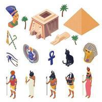Egypt Isometric Set Vector Illustration