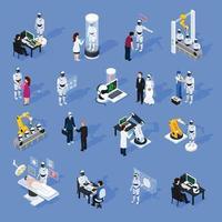 Artificial Intelligence Icons Set Vector Illustration