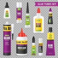 Glue Tubes Set Vector Illustration