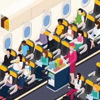 Airplane Passengers Composition Vector Illustration