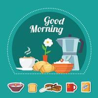 Breakfast Flat Concept Vector Illustration