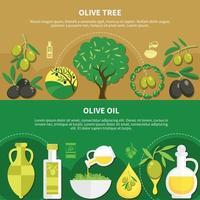 Olive Oil Horizontal Banners Vector Illustration