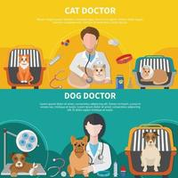 Veterinary Doctor Banners vector