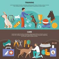 Dogs Vet Care Banners vector
