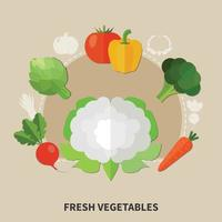 Healthy Eating Colored Composition Vector Illustration