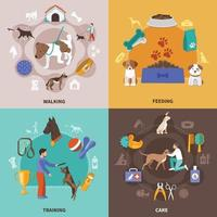 Dogs Life Design Concept vector