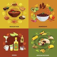 Mexican Food Design Concept Vector Illustration