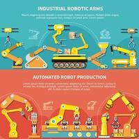 Robotic Arm Flat Composition Vector Illustration