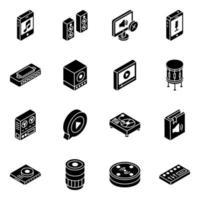 instrumentos y dispositivos multimedia vector