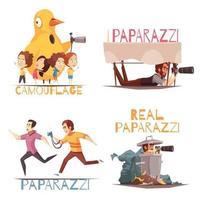 Paparazzi Characters Design Concept Vector Illustration