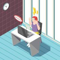 Annoying Advertisement Isometric Background Vector Illustration