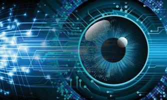 cyber eye circuit future technology concept background vector