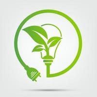 enchufe de alimentación ecología verde vector
