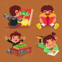 Activity Kids on School vector