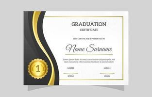 Realistic Graduation Certificate Template vector