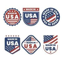 Made In USA Logo Collection vector