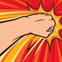 fist punching - hitting vector