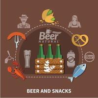 Beer Flat Illustration Vector Illustration