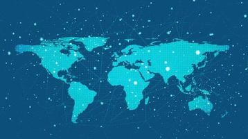 Digital Global Network System Technology Background vector