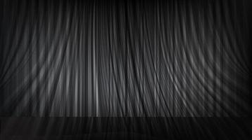 Vector black curtain with stage background