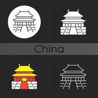 The Forbidden City dark theme icon vector