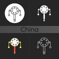 Pellet drum dark theme icon vector