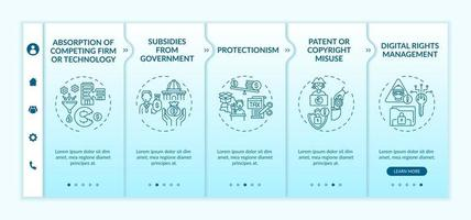 Noncompetitive policy onboarding vector template