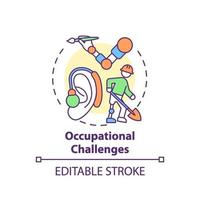 Occupational challenges concept icon vector