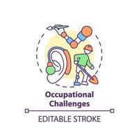 icono de concepto de desafíos ocupacionales vector