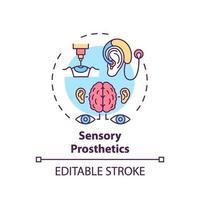icono del concepto de prótesis sensorial vector