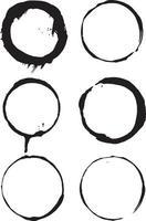 Grunge Circle Brush Strokes vector