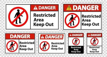 Danger Restricted Area Keep Out Symbol Sign vector