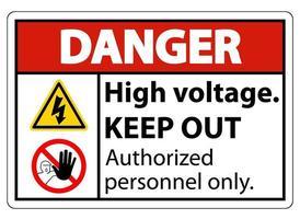 Señal de peligro de alto voltaje mantener fuera vector