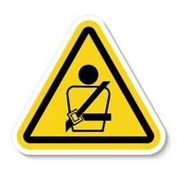 Wearing a seat belt Symbol Sign vector