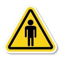 Prohibir a las personas permitidas no entrar ningún hombre señal de entrada vector