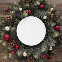 Copy space Christmas wreath photo