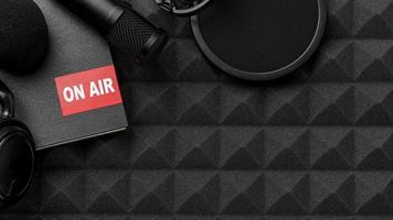 Top view air radio concept photo