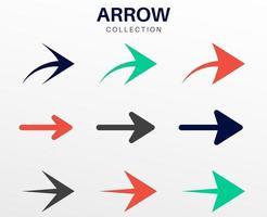 Flat Modern Arrows Collection vector