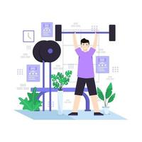 Flat vector illustration of person exercising