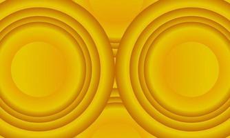 Minimal yellow abstract half circle background vector