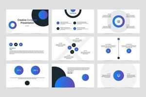 Creative company vector presentation template