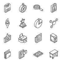 elementos electrónicos escolares vector