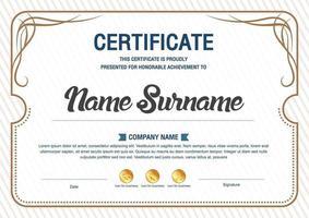 certificate of appreciation template, multipurpose certificate border with badge design vector