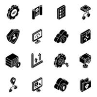 Business preferences Glyph vector
