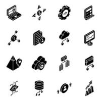 Network Connections Glyph vector
