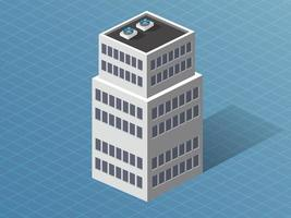 Single building downtown Isometric 3D dimensional house of the modern architecture of urban construction. vector