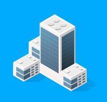 Elementos de diseño de paisaje urbano con generador de mapa de ciudad de edificio isométrico. colección aislada para crear tu calle perfecta vector