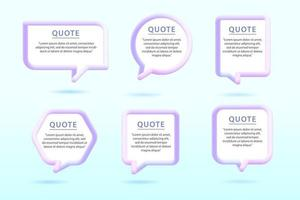 Quote Text Bubble Set with different Shapes vector