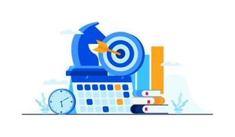 business management strategy flat illustration vector