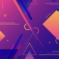 fondo moderno abstracto elementos futuristas geométricos vibrantes degradado colorido con líneas rayas vector